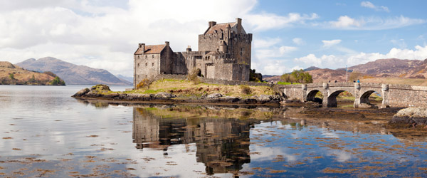 Eilean Donan Castle Scotland Panorama